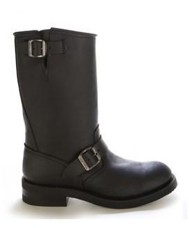 Chaussures moto cuir noir