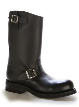 Chaussures moto cuir bout