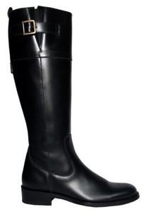 Bottes cavalières cuir noir