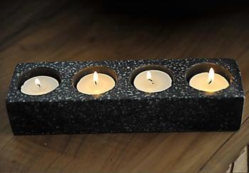 Porte bougies noir