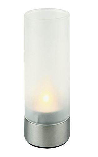 Lampe-Bougie Verre de Satin