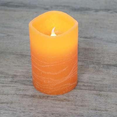 Bougie LED Rustique Orange