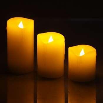 3 Bougies LED effet flamme
