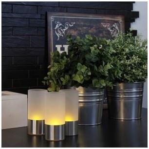 3 Photophores Bougies à LED