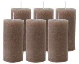 Pack de 6 Bougies Rustiques