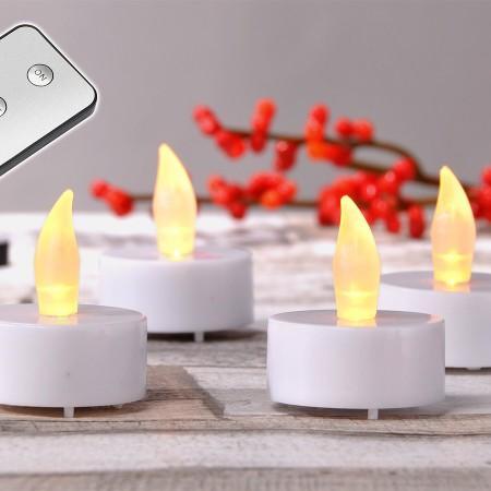 8 Bougies LED et sa télécommande