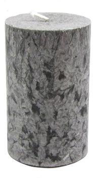 Grande Bougie cylindre Grise