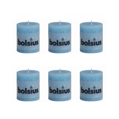 Bolsius Lot de 6 bougies 80