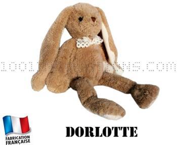 Peluche Dorlotte - lapin brun