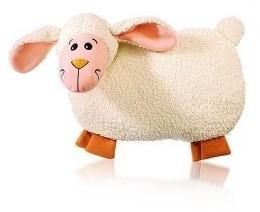 Bouillotte peluche agneau