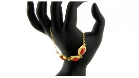 Bracelet Or-Corail maille