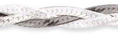 Bracelet en argent et rhodié