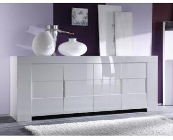 Buffet design blanc laqué