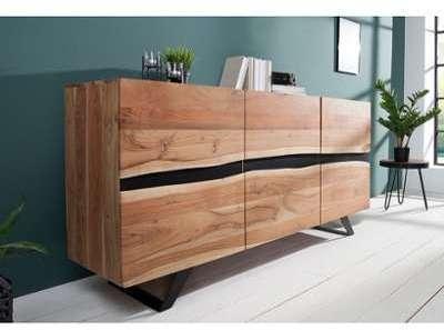 Buffet industriel en bois