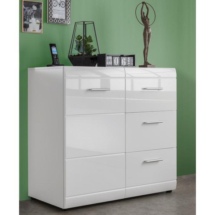 Bahut design blanc 96x86x40cm