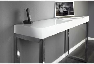 Console design blanc laqué