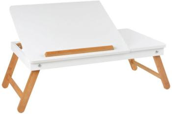 Table ordinateur nomade blanche