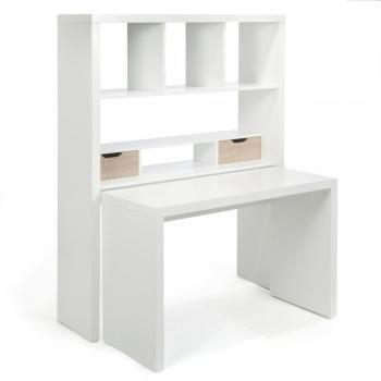 Bureau modulable blanc avec