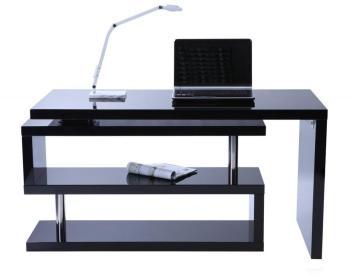 Bureau design noir laqué amovible