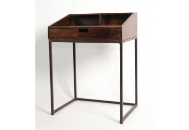 Petit bureau métal bois de