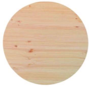 Plateau rond en bois pour