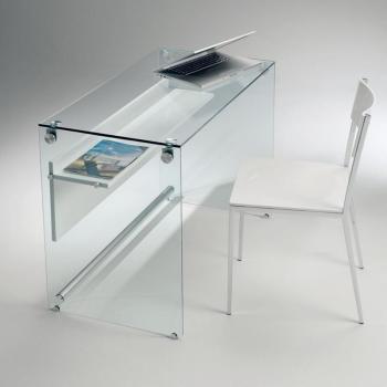 Bureau CHARLI design en verre