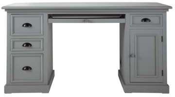 Bureau en pin gris L 150 cm