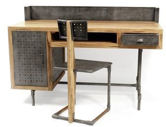 Combelle tablette amovible accessoire pour chaise haute - Bureau style industriel en metal et bois ...