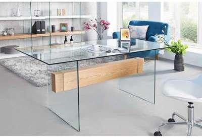Bureau design en verre trempé