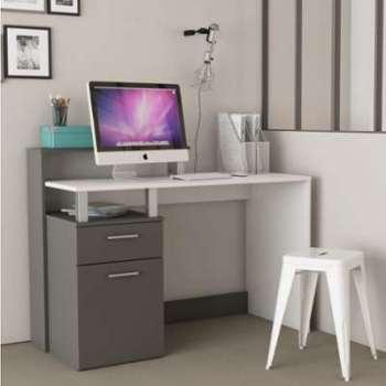 Bureau design blanc et gris