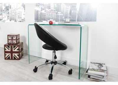 Bureau design 100 cm en verre