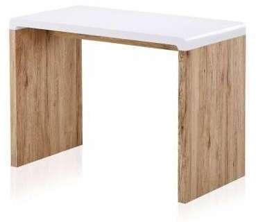 Bureau console bois clair