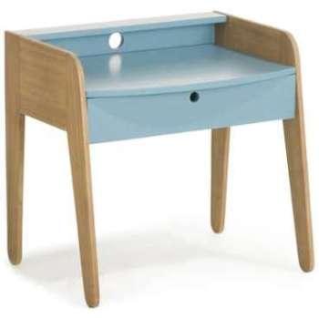 Petit bureau vintage bleu