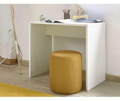 Bureau design blanc et jaune