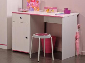 Bureau SMOOKIE pin blanc rose