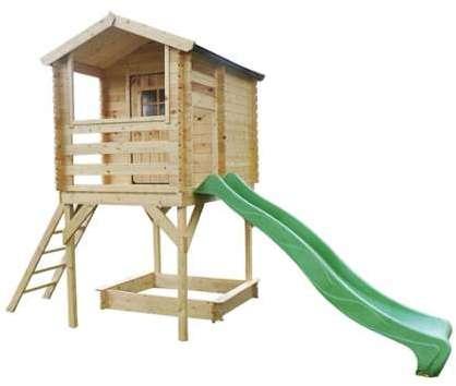 Maison enfant floralie for Maisonnette en bois sur pilotis