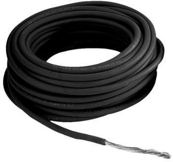 Câble 10 mm - Noir - 25M