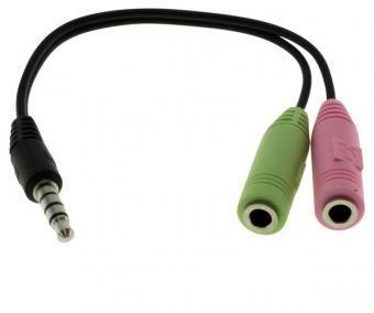 Audio-Micro Adaptateur Y-Câble