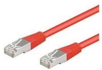 Câble RJ45 rouge cat5e F UTP
