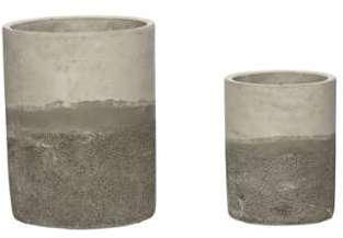 Set 2 Cache-Pots Ciment Naturel