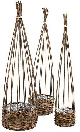 Set de cache-pots en osier
