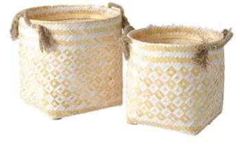 Set de 2 Cache pots en bambou