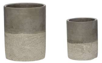 Set 2 Cache-Pots Ciment Gris
