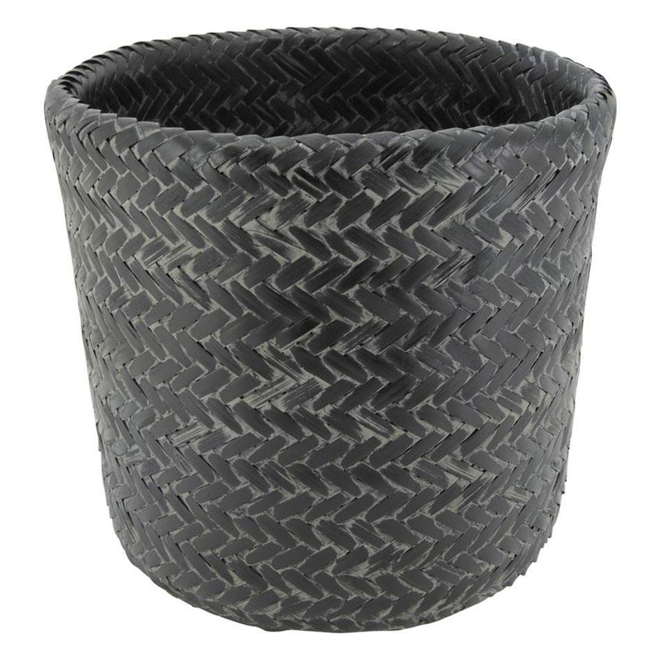 Cache Pot en Bambou Patiné