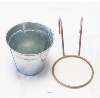 Pot zinc H 12 cm D 13 50 cm