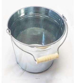 Pot zinc H 13 cm D 14 cm avec