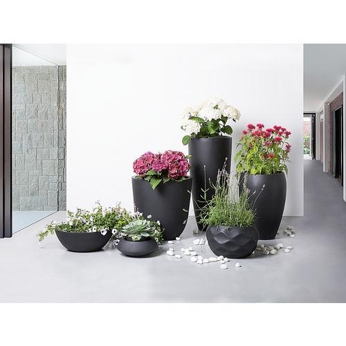 Cache-pot de fleurs - noir