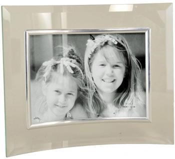 Cadre photo en verre galbé