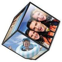 Cadre photo cubique rotatif