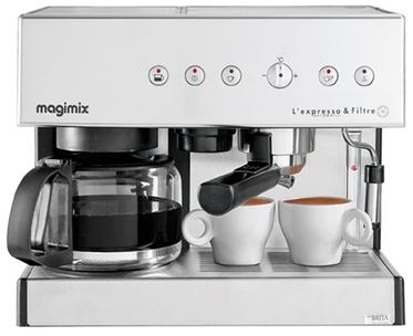combine cafetiere expresso magimix lexpresso filtre automatic chrome mat 11423. Black Bedroom Furniture Sets. Home Design Ideas